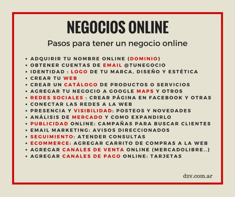 Negocios online D2V