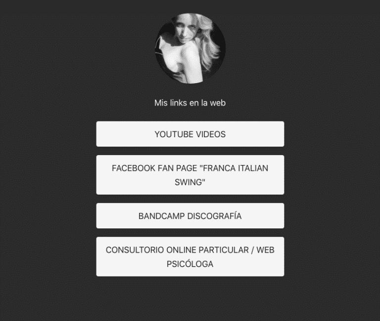 Bio link instagram